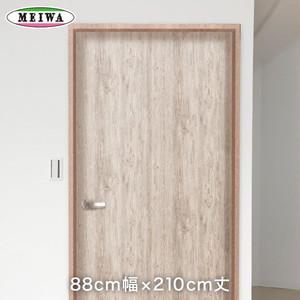 貼ってはがせる室内用ドア装飾シート 粗木 ホワイト