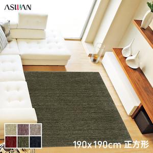 アスワン デザインラグ ムシ・カビ Clean MC-100 190×190cm