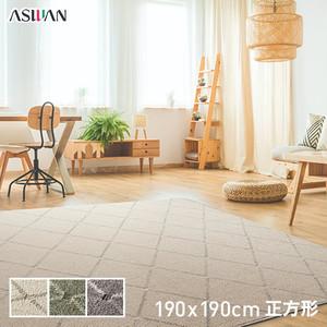 アスワン リビングラグ PTT繊維カーペット アルテア 190×190cm