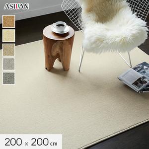 ■防ダニ・防音■アスワン YESカーペット 【アスフェリーチェ】 200×200cm