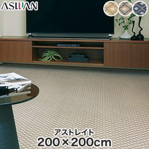 アスワン YESカーペット 【アストレイト】 200×200cm