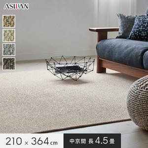 アスワン YESカーペット 【アスグロー】 中京間 長4.5畳 210×364cm