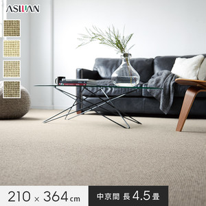 ■防ダニ・防音■アスワン YESカーペット 【アスシード】 中京間 長4.5畳 210×364cm