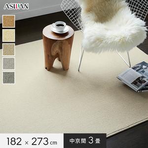 ■防ダニ・防音■アスワン YESカーペット 【アスフェリーチェ】 中京間 3畳 182×273cm
