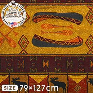 高級ラグカーペット リバークロス 79×127cm