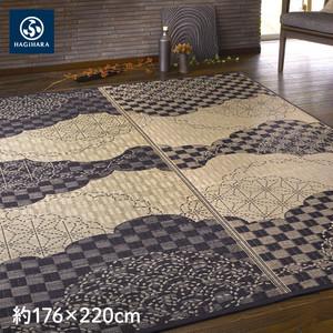 萩原 い草センターラグ(裏貼り) WATSUMUGI 約176×220cm