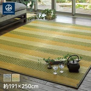 萩原 国産い草センターラグ(裏貼り) レーヴ 約191×250cm