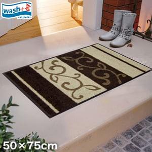 KLEEN-TEX 屋外屋内両用ラグマット Wash + Dry Ranke braun 50×75cm