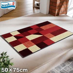 KLEEN-TEX 屋外屋内両用ラグマット Wash + Dry Lumina reddish 50×75cm