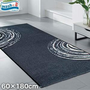 KLEEN-TEX 屋外屋内両用ラグマット Wash + Dry Swirl 60×180cm