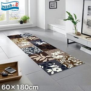 KLEEN-TEX 屋外屋内両用ラグマット Wash + Dry Mystic Leaves 60×180cm