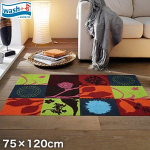 KLEEN-TEX 屋外屋内両用ラグマット Wash + Dry Summer Breeze 75×120cm