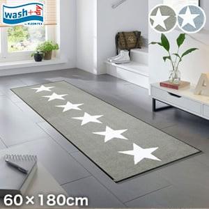 KLEEN-TEX 屋外屋内両用ラグマット Wash + Dry Stars 60×180cm