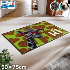 KLEEN-TEX 屋外屋内両用ラグマット Wash + Dry Animal50×75cm