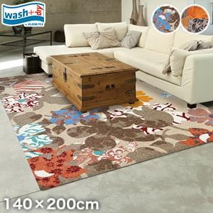 KLEEN-TEX 屋外屋内両用ラグマット Wash + Dry Decor Flower 140×200cm