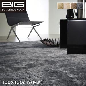 【抗アレルゲン 消臭】スミノエ BIG Mラックスファー 100X100cm(円形)