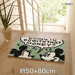 スミノエ ディズニーラグマット MICKEY/Comic frame MAT(コミックフレームマット) 約50×80cm