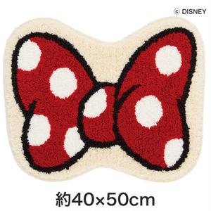 スミノエ ディズニーラグマット MICKEY/Ribon MAT(リボンマット) 約40×50cm