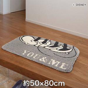 スミノエ ディズニーラグマット MICKEY/YOU&ME MAT(ユーアンドミーマット) 約60×70cm