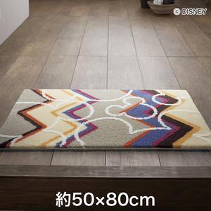 スミノエ ディズニーラグマット MICKEY/Colorful herringbone MAT(カラフルヘリンボーンマット) 約50×80cm