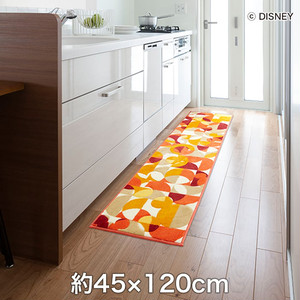 スミノエ ディズニーラグマット POOH/Semicircle KITCHEN MAT(セミサークルキッチンマット) 約45×120cm