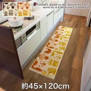 スミノエ ディズニーラグマット POOH/Hide-and-seek KITCHEN MAT(ハイドアンドシークキッチンマット) 約45×120cm