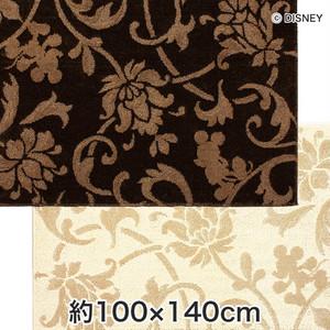 スミノエ ディズニーラグマット MICKEY/Elegance note RUG(エレガンスノートラグ) 約100×140cm