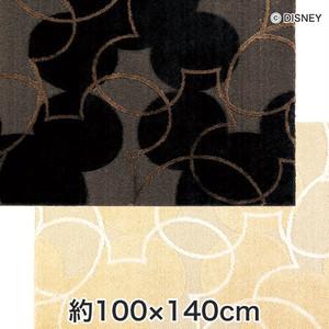 スミノエ ディズニーラグマット MICKEY/Pearl line RUG(パールラインラグ) 約100×140cm