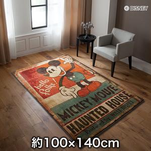 スミノエ ディズニーラグマット MICKEY/Haunted house RUG(ホーンテッドラグ) 約100×140cm