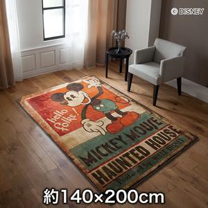 スミノエ ディズニーラグマット MICKEY/Haunted house RUG(ホーンテッドラグ) 約140×200cm