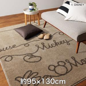 スミノエ ディズニーラグマット MICKEY/YarnRUG(ヤーンラグ) 約95×130cm