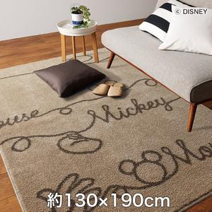 スミノエ ディズニーラグマット MICKEY/YarnRUG(ヤーンラグ) 約130×190cm