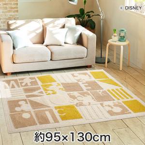 スミノエ ディズニーラグマット MICKEY/Pazzle piece RUG(パズルピースラグ) 約95×130cm
