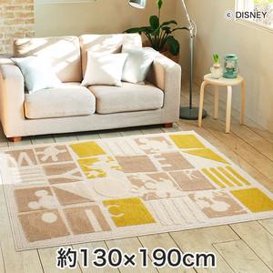 スミノエ ディズニーラグマット MICKEY/Pazzle piece RUG(パズルピースラグ) 約130×190cm