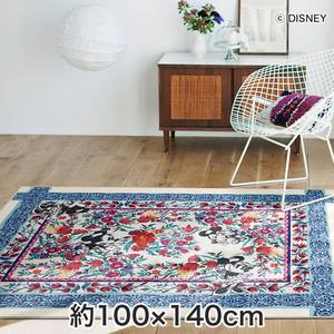 スミノエ ディズニーラグマット MICKEY/Royal garden RUG(ロイヤルガーデンラグ) 約100×140cm