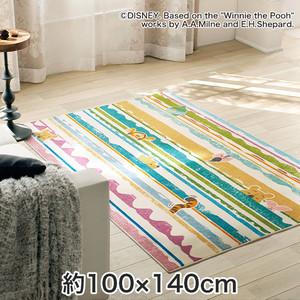 スミノエ ディズニーラグマット POOH/Look in RUG(ルックインラグ) 約100×140cm