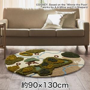 スミノエ ディズニーラグマット POOH/In the forest RUG(インザフォレストラグ) 約90×130cm
