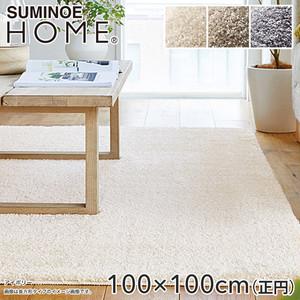 【抗アレルゲン】スミノエ ラグマット HOME Mベア・フレーテ 100×100cm(円形)