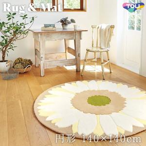 東リ 高級ラグマット Simple&Natural 円形 140×140cm TOR3826