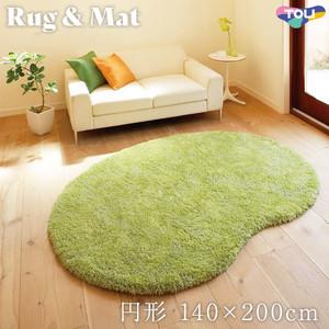 東リ 高級ラグマット Simple&Natural 円形 140×200cm TOR3828