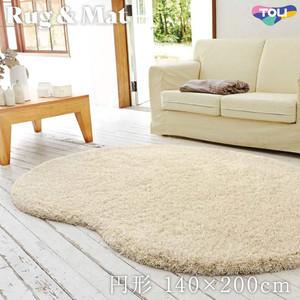 東リ 高級ラグマット Simple&Natural 円形 140×200cm TOR3829