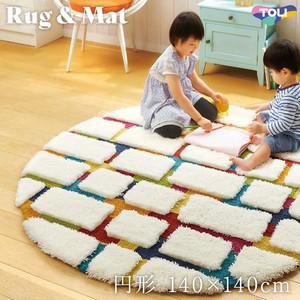 東リ 高級ラグマット Pop&Colorful 円形 140×140cm TOR3847
