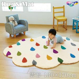 東リ 高級ラグマット Kids 雲形 130×170cm TOR3855