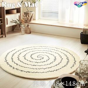 東リ 高級ラグマット Simple&Natural 円形 148×148cm TOR3887