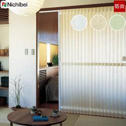 【ニチベイ】アコーディオンドア 和紙調の半透明レザーが光を優しく取り込む やまなみ マークII「ネーベル」