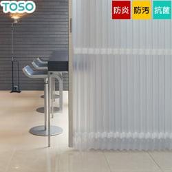 【TOSO】アコーディオンドア シンプルモダンな縦ストライプの半透明レザー クローザ エクセル「ストリーム」