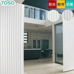 【TOSO】アコーディオンドア パール調のストライプがクールモダンな雰囲気 クローザ エクセル「シャープ」