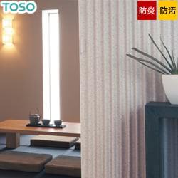 【TOSO】アコーディオンドア 主張しすぎない淡いカラーの花柄が優しい印象 クローザ ライト「グレーベル」