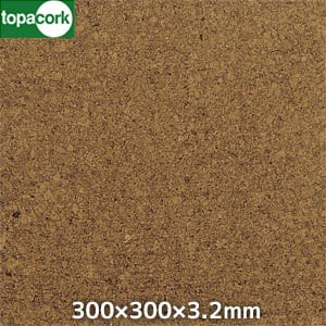 東亜コルク コルクタイル 強化ウレタン仕上 カラー ダーク 300×300×3.2mm