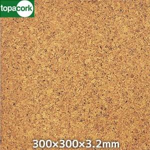東亜コルク コルクタイル 天然オイル仕上 ライト 300×300×3.2mm